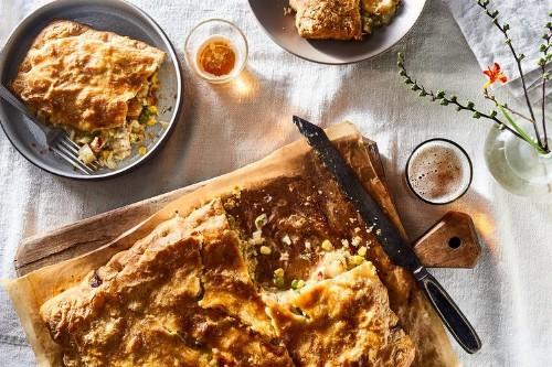 Sheet-Pan Seafood PotPie