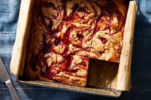 """Pinkies"" (White Chocolate & Raspberry Blondies with Pink Peppercorn) Recipe on Food52"