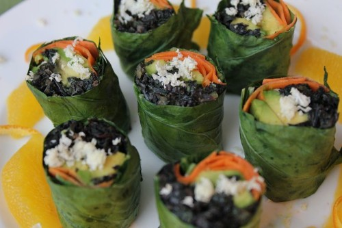 Collard Roll Ups with Coconut CurryKale