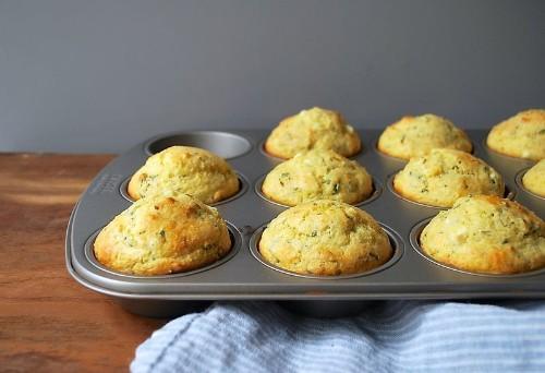 Cheesy Herbed Corn Muffins Recipe