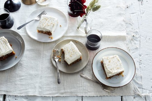 Olive Oil Carrot Cake with SesameButtercream