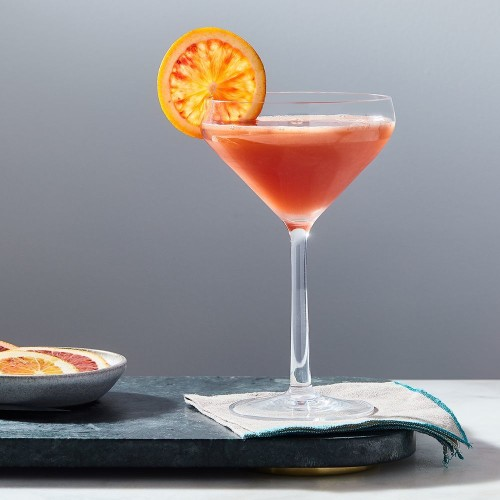 Blood Orange Vodka Cocktail with Clove Syrup