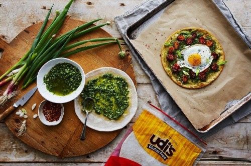 Hang On To Ramp Season with This Bright, Pesto-ed (Gluten-Free!) Pizza