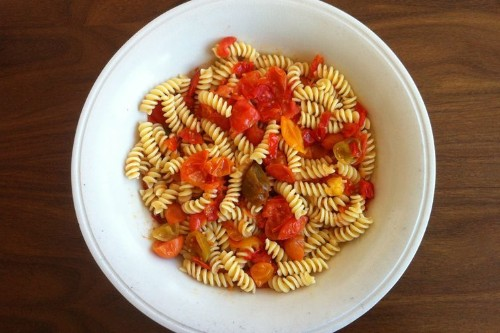 Pasta with Cherry Tomatoes Recipe on Food52