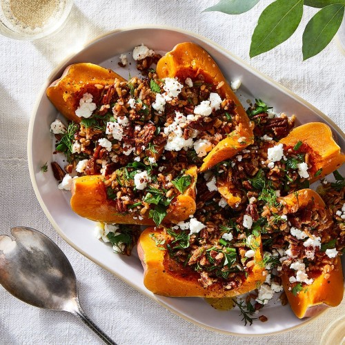Slow-Cooker Whole Squash With Spelt & Feta Recipe on Food52