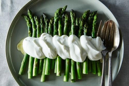 Alice B. Toklas' Asparagus in Salt & Pepper Whipped Cream Recipe on Food52