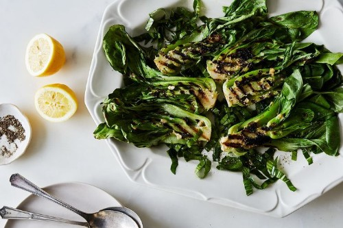 Grilled Baby Bok Choy with MisoButter