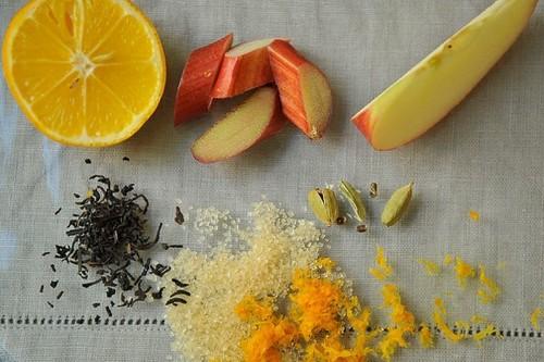 Rhubarb with Earl Grey Tea, Cardamom, and OrangeZest