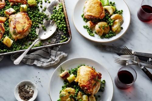 Nigella Lawson's Chicken and PeaTraybake