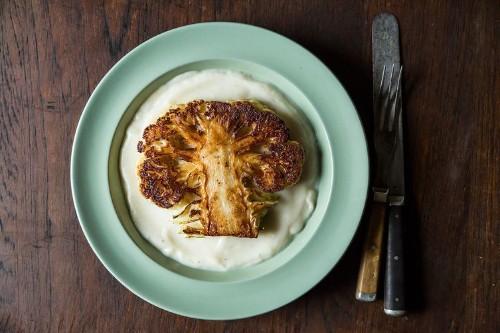 Dan Barber's Cauliflower Steaks with CauliflowerPurée