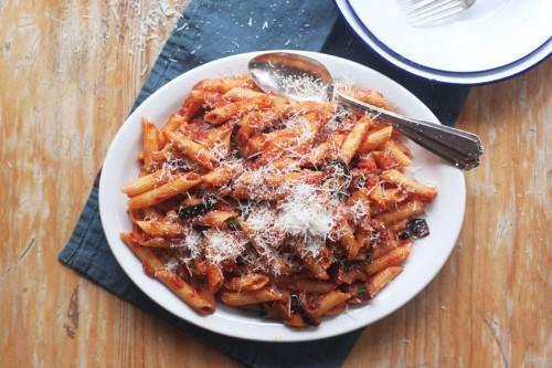 Eggplant and Tomato Pasta - Regional Italian Food