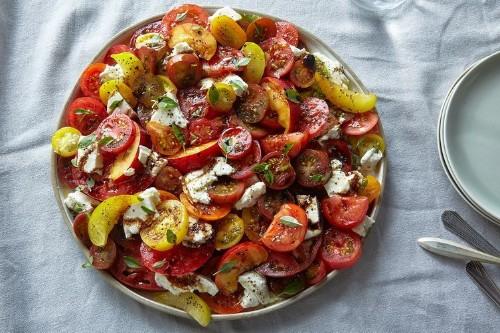 Tomato, Nectarine & MozzarellaSalad