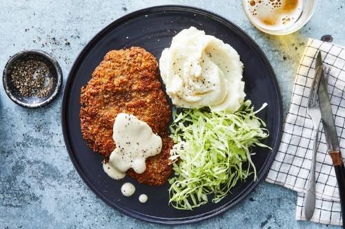 Chicken-Fried Steak Katsu With MilkGravy