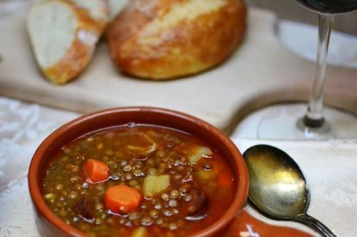 Lentejas con Chorizo (Spanish LentilSoup)