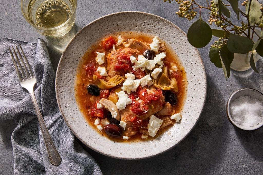 Slow-Cooker Mediterranean Chicken Thigh Stew
