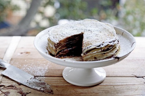 Nutella Crêpe Cake Dessert - Cooking What I Want