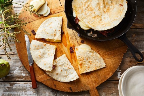 Jack's Pear, Bacon, & Goat Cheese Quesadillas Recipe on Food52
