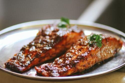 South Indian Tamarind GlazedSalmon