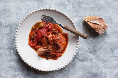Pollo e Peperoni (Chicken with Tomatoes and RedPeppers)