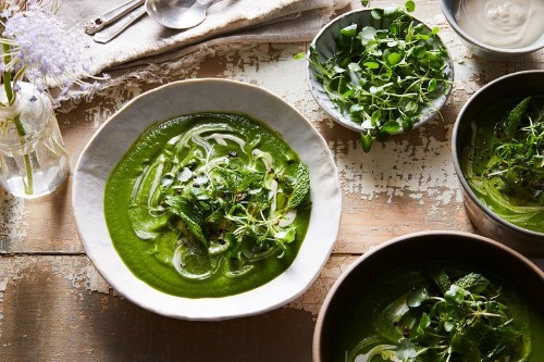A Mean, Green, Pantry-Friendly Soup That's As Good Hot orCold