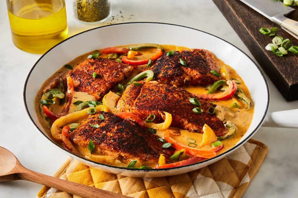 Crispy One-Pan Salmon With Spicy Creole Cream Sauce? Heck Yes.