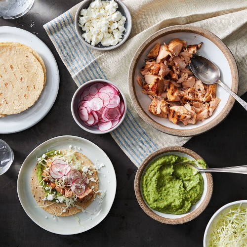 Grilled Salmon Tacos with Avocado Sauce Recipe on Food52