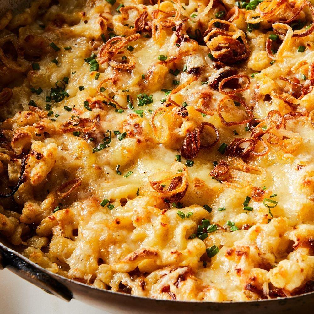 Käsespätzle (Cheesy Spaetzle With Caramelized Onions & Crispy Shallots) Recipe on Food52