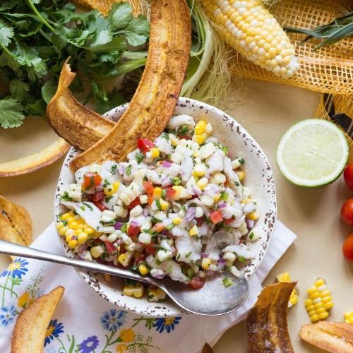 Barramundi Ceviche with Corn + Tomatoes Recipe on Food52