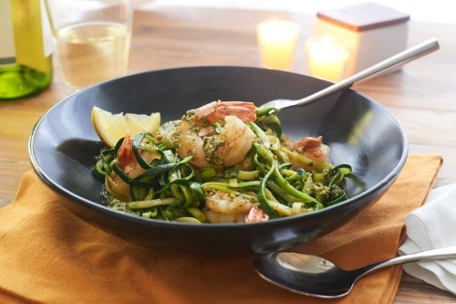 Zoodles with Pesto and Shrimp Recipe on Food52