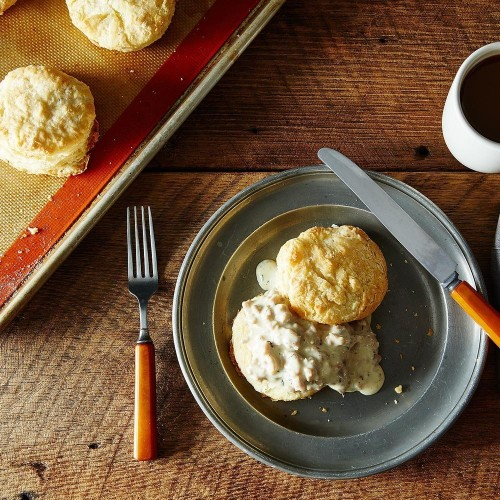 Buttermilk Biscuits with Sausage Gravy Recipe on Food52