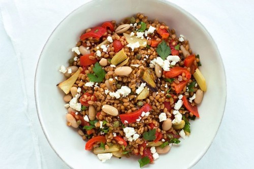 Wheat Berry Salad with Roasted Fennel and BellPepper