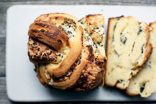 Savory Babka with Gruyère, Mozzarella, and Black Sesame Recipe on Food52