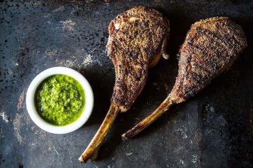 Szechuan Lambypops with Cilantro Chimichurri Recipe on Food52