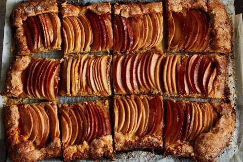Apple Galette with Tahini Frangipane & Honey-HibiscusGlaze