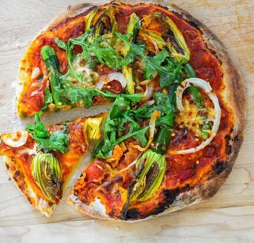 Feast Your Eyes: Squash Blossom Pizza