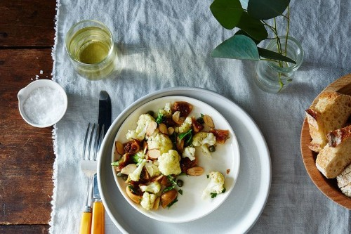 Spiced Cauliflower, Pickled Fig, and AlmondSalad