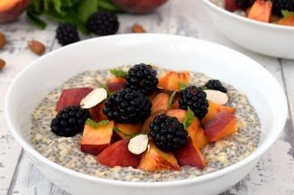 Peach & Blackberry Overnight Oatmeal with Chia Seeds [vegan] Recipe on Food52