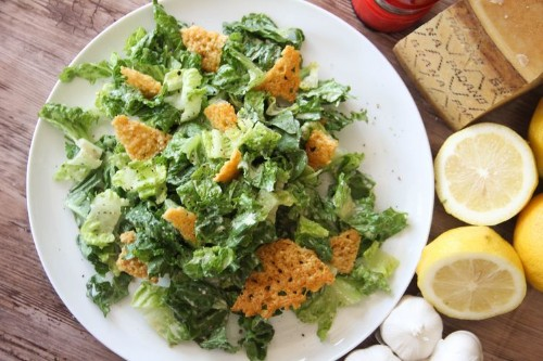 Caesar Salad with Garlicy Grana Padano Dressing and FricoCroutons