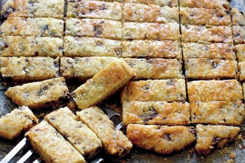Olive Oil Shortbread with Rosemary & ChocolateChunks