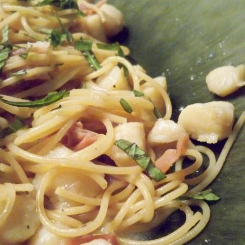 Scallops and Prosciutto over Capellini Recipe on Food52