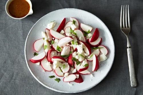 Radish Salad with Curry-OrangeDressing