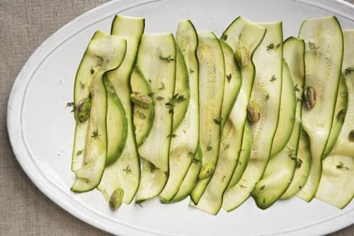 Patricia Wells' Zucchini Carpaccio with Avocado andPistachios