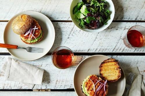 Salmon Burgers with AvocadoAioli