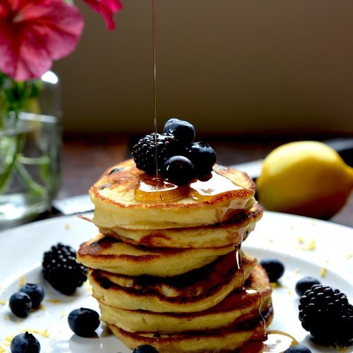 Lemon, Blueberry & Ricotta Pancakes Recipe on Food52