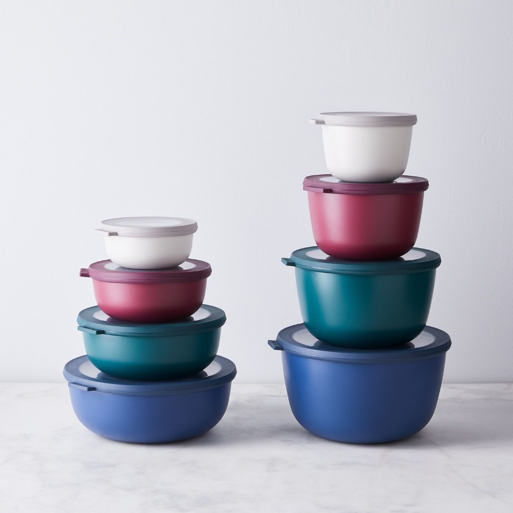 Rosti Mepal Microwavable Nested Storage Bowls, Set of 4, 9 Colors