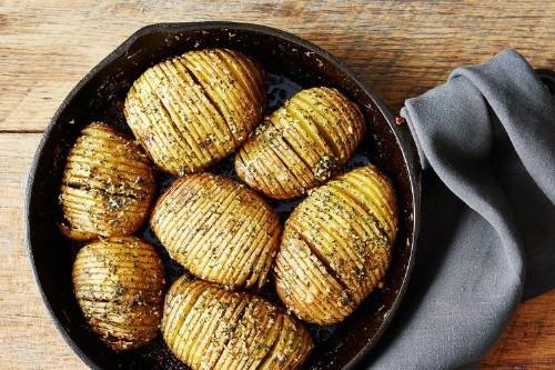 Hasselback Potato Skillet Bake Recipe on Food52