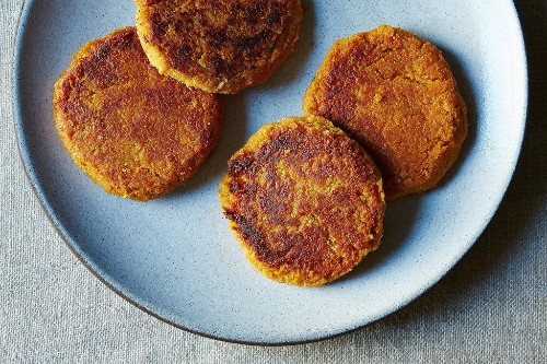 Vegan Sweet Potato Cakes - Thanksgiving Leftover Recipes