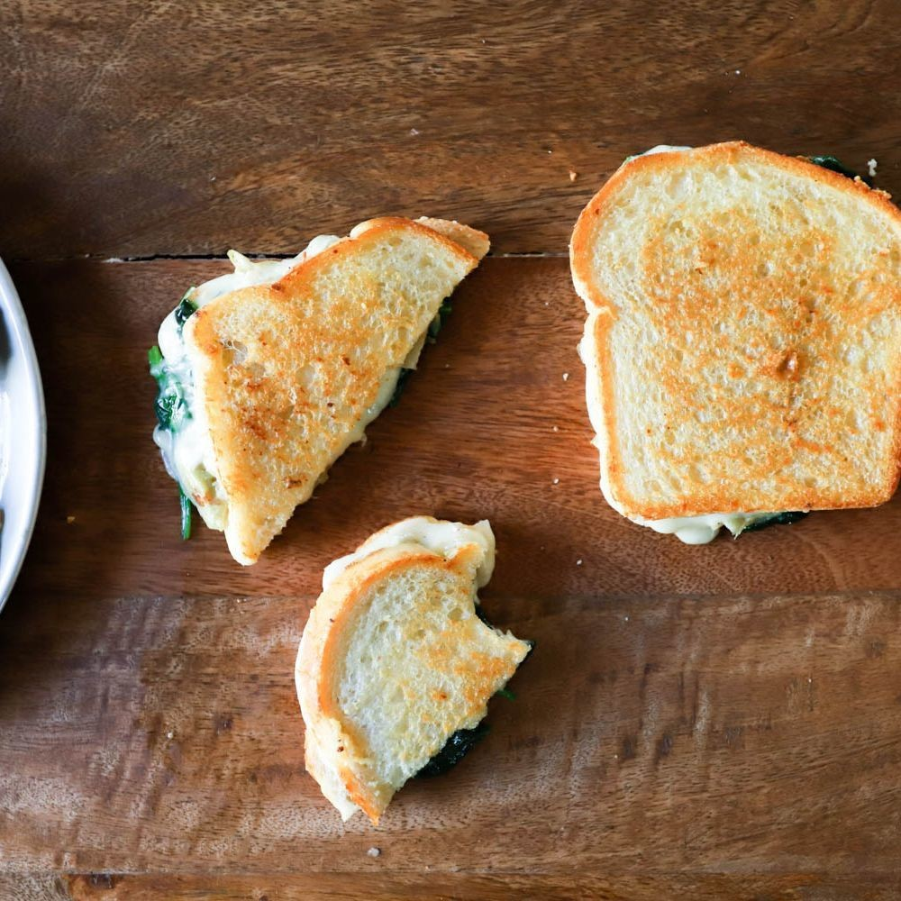 Spinach Artichoke Grilled Cheese Recipe on Food52