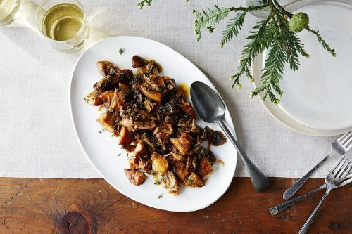 Mushrooms With Caramelized Shallots & Fresh Thyme Recipe on Food52