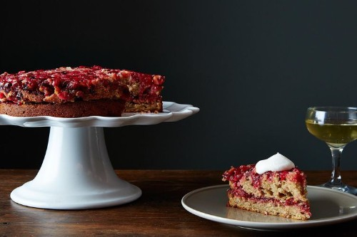 Double Layer Cranberry Ginger Upside-DownCake